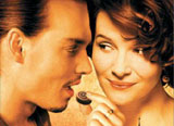"Johnny Depp and Juliette Binoche in ""Chocolat"""