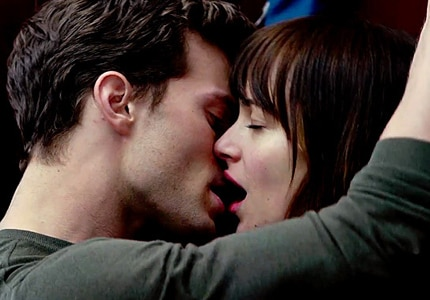 A passionate scene from 50 Shades of Grey, one of GAYOT's Top 10 Sexy Movies