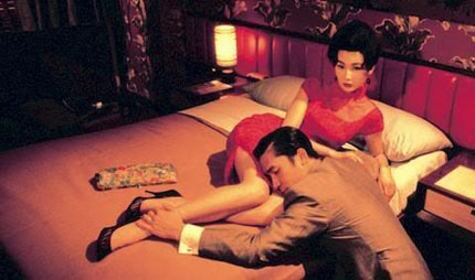 Maggie Cheung and Tony Leung star in In the Mood for Love, directed by Wong Kar Wai