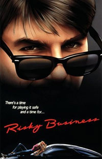 Tom Cruise and Rebecca De Mornay star in Risky Business