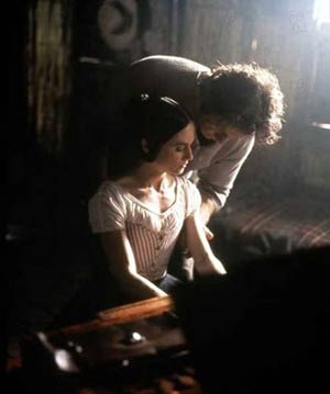 Holly Hunter and Harvey Keitel in The Piano