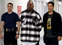 "Chris Evans, The Game, and Keanu Reeves in ""Street Kings"""