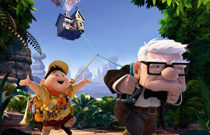"A scene from Disney's ""Up"""
