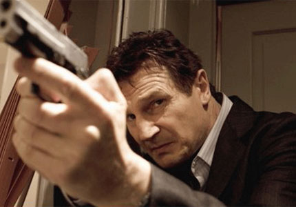 Liam Neeson in Taken, one of GAYOT's Top 10 Action Movies