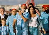 Bill Murray and cast in The Life Aquatic with Steve Zissou