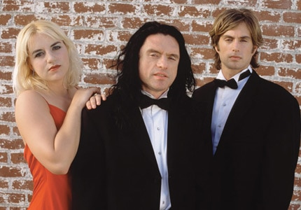 Juliette Danielle, Tommy Wiseau and Greg Sestero in cult movie favorite The Room