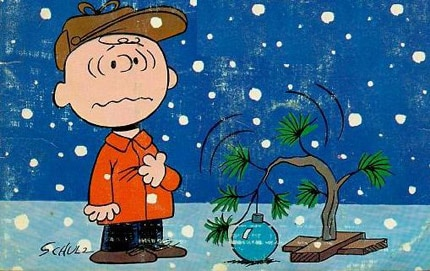 Turn that frown upside down, Charlie Brown. It's the holiday season!