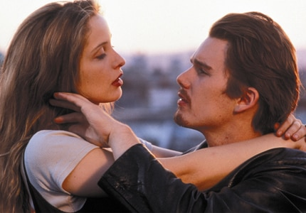 Julie Delpy and Ethan Hawke in Before Sunrise, one of GAYOT's Top 10 Romantic Movies