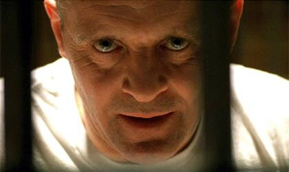 "Anthony Hopkins as Hannibal Lecter in ""The Silence of the Lambs"