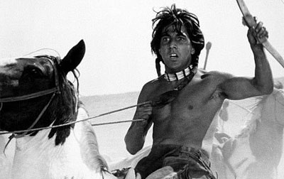 Dustin Hoffman plays a white youth who was raised by Native Americans in Little Big Man