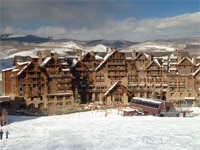 At Bachelor Gulch, skiing is quite literally at your doorstep