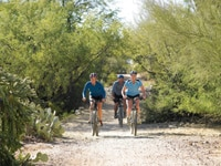 Mountain biking at Canyon Ranch, Tucson