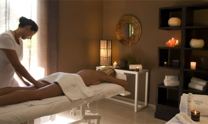 Enjoy a full body massage at the Boutique Spa by Carita in St. Barths
