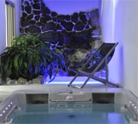 A HydroZone area hot tub at the Boutique Spa by Carita