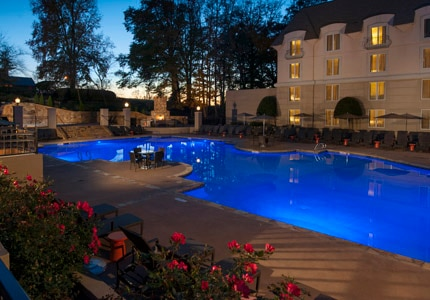 The outdoor pool at Chateau Elan in Braselton, Goergia