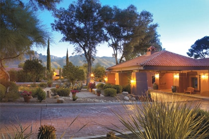 The stunning desert setting of Canyon Ranch in Tucson