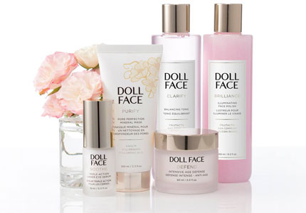 Doll Face's products are made from natural ingredients like organic juices, flower extracts, sea plants and botanicals.