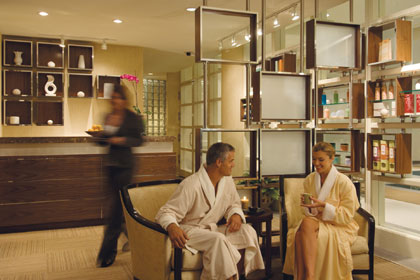 The inviting entry of the Spa at Four Seasons Hotel Philadelphia