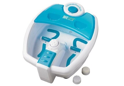 The Hot Spa Ultimate Foot Bath, one of GAYOT's Top 10 Spa Gifts, features a hot water heater and massaging jets