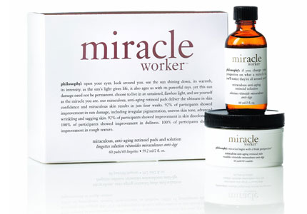 Philosophy's Miracle Worker pads contain HPR, a high-performance retinoid which is gentle on skin