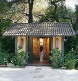 Golden Door spa's famed golden entry doors, in a serene setting studded with citrus-scented paths, Japanese lanterns