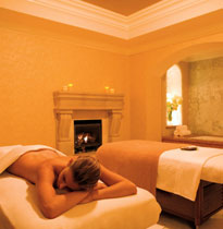 Enjoy a massage in the warm and inviting couples suite