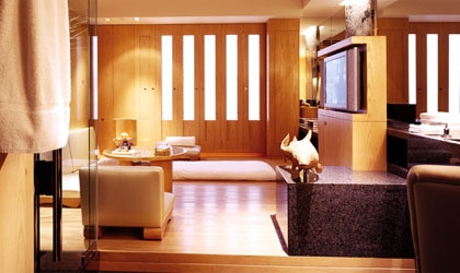 Inside a Residential Spa Room at the Grand Hyatt Hong Kong's Plateau Spa