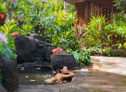 Anara Spa at Grand Hyatt Kauai Resort & Spa on Kauai features treatments using passionfruit, noni, volcanic clay and 'awa root