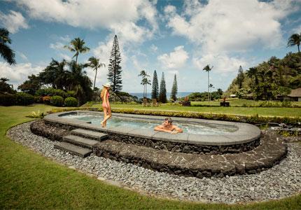 The spa at Travaasa Hana in Maui, Hawaii