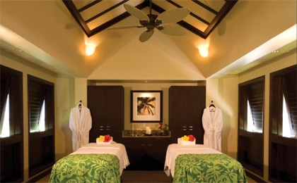 A massage room at Heavenly Spa at The Westin Ka'anapali Ocean Resort Villas North