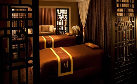 The Chuan Couples Suite at Huntington Spa at The Langham Huntington, Pasadena, one of the top ten spas in L.A.