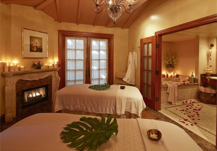 A treatment villa at Kelly's Spa at the Mission Inn in Riverside