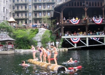 A log-rolling contest on Lake Mohonk