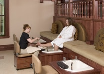A girl receives a pedicure at The Spa at Mohonk Mountain House