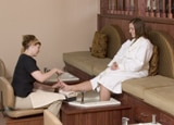 A pedicure at The Spa at Mohonk Mountain House