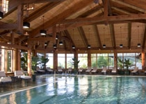 The indoor pool at Mohonk Mountain House