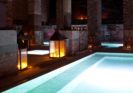 The salt bath at Aire Ancient Baths in Tribeca, New York