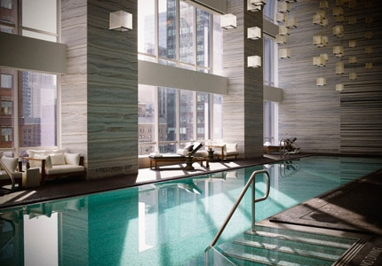 The pool at Spa Nalai at Park Hyatt New York, one of GAYOT's Top 10 Spas in New York City