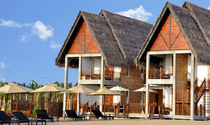 Guest chalets at Maalu Maalu Resort & Spa, Sri Lanka