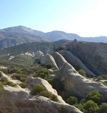 A view of the Piedra Blanca rock formations during the personalized hike from the Oaks at Ojai