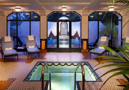 The indoor pool at Ojai Inn & Spa in Ojai, California