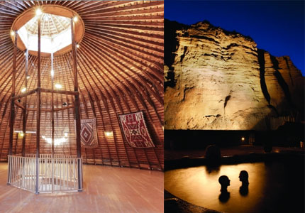 Soak in the mineral springs and natural beauty of Ojo Caliente