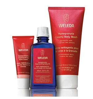 Weleda Pomegranate Body Care works great on winter-dry skin