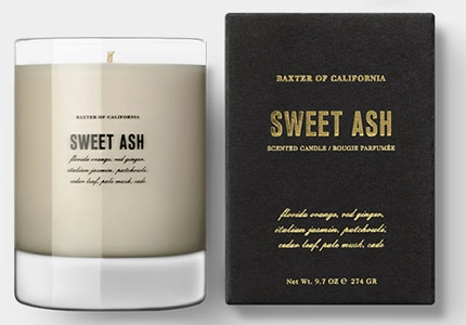 Baxter of California Sweet Ash is an eco-friendly candle made of soy