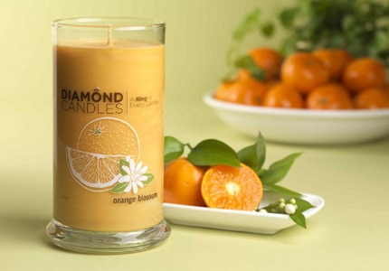 Diamond Candle, a natural soy candle that comes with a surprise