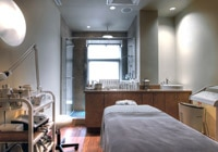 A treatment room at Rainspa at Le Place d'Armes Hotel & Suites in Montreal, Canada