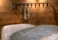 The Vichy Shower of  Rainspa at Le Place d'Armes Hotel & Suites in Montreal, Canada