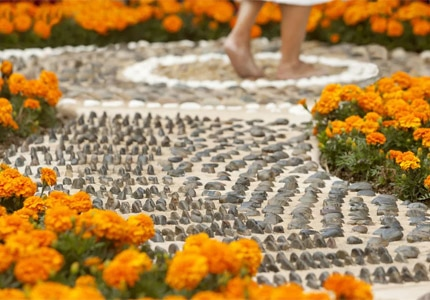 Soothe your senses and ease your tired feet at the reflexology path at Spa at Omni La Costa in Carlsbad, California
