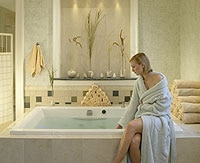 A bath treatment room at The Spa at The Sanctuary at Kiawah Island Golf Resort