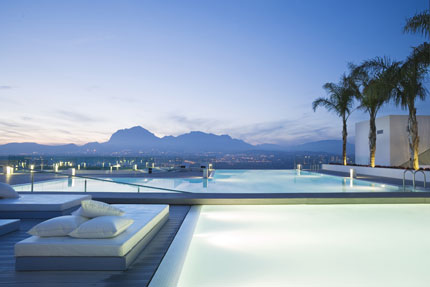 The infinity pool at SHA Wellness Clinic in Alicante, Spain